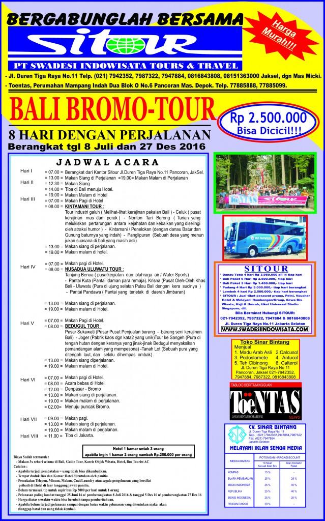 Brosur Bali Bromo 2016 depan ver 2